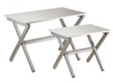 tavolino alluminio